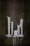 Παλαιά γοτθικά κεριά Στοκ φωτογραφίες με δικαίωμα ελεύθερης χρήσης