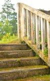Παλαιά εγκαταλειμμένη συγκεκριμένη σκάλα Στοκ εικόνες με δικαίωμα ελεύθερης χρήσης