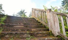 Παλαιά εγκαταλειμμένη συγκεκριμένη σκάλα Στοκ Φωτογραφίες