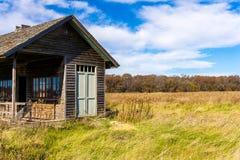 Παλαιά εγκαταλειμμένη φυτική στάση στον τομέα Στοκ φωτογραφία με δικαίωμα ελεύθερης χρήσης