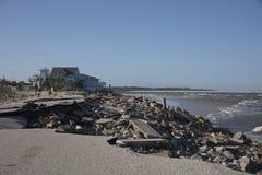 Παλαιά A1A εθνική οδός που καταστρέφεται από τον τυφώνα Matthew Στοκ φωτογραφία με δικαίωμα ελεύθερης χρήσης