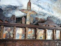 Παλαιά εικονίδια, ελληνική εκκλησία νησιών Στοκ Εικόνες