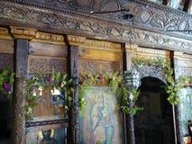 Παλαιά εικονίδια, ελληνική εκκλησία νησιών Στοκ εικόνα με δικαίωμα ελεύθερης χρήσης
