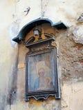 Παλαιά εικονίδιο, Madonna και παιδί, Φλωρεντία, Ιταλία Στοκ Φωτογραφία