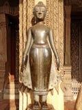 Παλαιά εικόνα του Βούδα σε Wat Sisaket Στοκ φωτογραφία με δικαίωμα ελεύθερης χρήσης