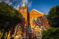 Παλαιά εκκλησία στη μεσοαστική τάξη Σαρλόττα, βόρεια Καρολίνα Στοκ εικόνες με δικαίωμα ελεύθερης χρήσης
