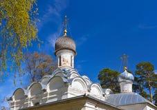 Παλαιά εκκλησία στο μουσείο-κτήμα Arkhangelskoye - Μόσχα Ρωσία Στοκ Φωτογραφία