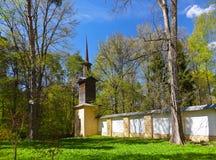 Παλαιά εκκλησία στο μουσείο-κτήμα Arkhangelskoye - Μόσχα Ρωσία Στοκ εικόνα με δικαίωμα ελεύθερης χρήσης