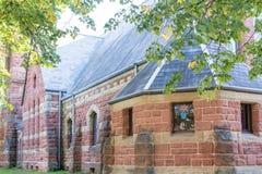Παλαιά εκκλησία των ογκωδών τούβλων Στοκ Εικόνα