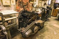 παλαιά εκτύπωση μηχανών Στοκ Εικόνες