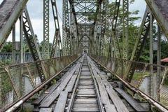 Παλαιά εκλεκτής ποιότητας γέφυρα σε Sixaola Στοκ Εικόνες