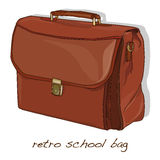 Παλαιά εκλεκτής ποιότητας σχολική τσάντα Στοκ Φωτογραφίες