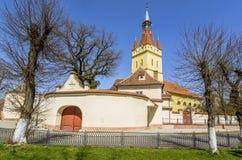 Παλαιά ενισχυμένη εκκλησία στο Cristian, Brasov, Ρουμανία στοκ εικόνες