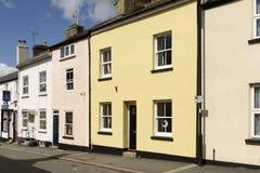 Παλαιά εξοχικά σπίτια σε Moretonhampsted, Devon Στοκ φωτογραφία με δικαίωμα ελεύθερης χρήσης