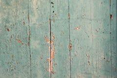Παλαιά επιδεινωμένη τυρκουάζ ξύλινη σύσταση Στοκ Φωτογραφία