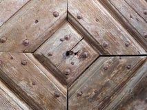 Παλαιά λεπτομέρεια πορτών σανίδων Στοκ Εικόνα