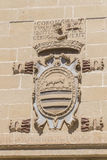 Παλαιά λεπτομέρεια προσόψεων σπιτιών και φυλακών δικαιοσύνης, τώρα Δημαρχείο, Baeza, στοκ εικόνα με δικαίωμα ελεύθερης χρήσης