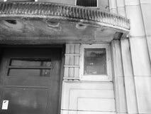 Παλαιά εργασία τούβλου οικοδόμησης κινηματογράφων Στόκπορτ Στοκ φωτογραφία με δικαίωμα ελεύθερης χρήσης