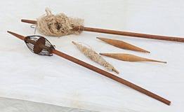 Παλαιά εργαλεία για τη χειρωνακτική περιστροφή Στοκ εικόνα με δικαίωμα ελεύθερης χρήσης