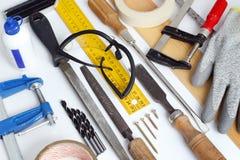 Παλαιά εργαλεία ξυλουργικής Στοκ εικόνα με δικαίωμα ελεύθερης χρήσης