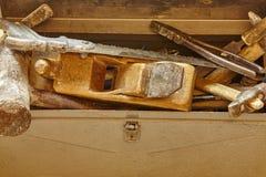 Παλαιά εργαλεία οικοδόμησης μετάλλων στοκ εικόνες