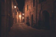 Παλαιά ευρωπαϊκή οδός τη νύχτα Στοκ φωτογραφίες με δικαίωμα ελεύθερης χρήσης