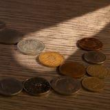 Παλαιά ελαφριά ακτίνα νομισμάτων Στοκ φωτογραφίες με δικαίωμα ελεύθερης χρήσης