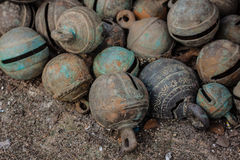 Παλαιά ζωικά κουδούνια χαλκού Στοκ φωτογραφία με δικαίωμα ελεύθερης χρήσης