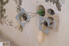 Παλαιά ηλεκτρική εγκατάσταση στοκ φωτογραφίες με δικαίωμα ελεύθερης χρήσης