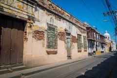 Παλαιά ηλικίας σπίτια, Santa Marta, καραϊβική πόλη μέσα Στοκ φωτογραφία με δικαίωμα ελεύθερης χρήσης
