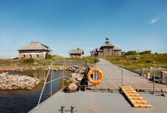 Παλαιά διάσημη ιστορική αποβάθρα του σκανδιναβικού νησιού Στοκ Εικόνες