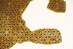Παλαιά διακόσμηση με τα γεωμετρικά σχέδια Στοκ φωτογραφία με δικαίωμα ελεύθερης χρήσης