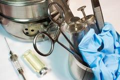 Παλαιά ιατρικά όργανα Στοκ Φωτογραφίες