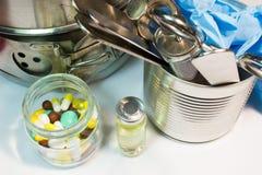 Παλαιά ιατρικά όργανα Στοκ φωτογραφία με δικαίωμα ελεύθερης χρήσης