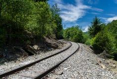 Παλαιά διαδρομή σιδηροδρόμων στις υψηλές πτώσεις Cheat Στοκ Εικόνα