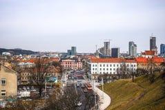 Παλαιά λιθουανική αρχιτεκτονική της πόλης Vilnius Γενική τοπ άποψη Στοκ φωτογραφίες με δικαίωμα ελεύθερης χρήσης