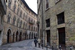 Παλαιά ιταλική οδός, Ανκόνα, Marche, Ιταλία Στοκ φωτογραφία με δικαίωμα ελεύθερης χρήσης