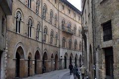 Παλαιά ιταλική οδός, Ανκόνα, Marche, Ιταλία Στοκ εικόνα με δικαίωμα ελεύθερης χρήσης