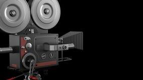 Παλαιά κάμερα κινηματογράφων ύφους απόθεμα βίντεο