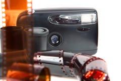 Παλαιά κάμερα, ταινία στοκ φωτογραφίες