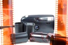 Παλαιά κάμερα, ταινία στοκ εικόνα