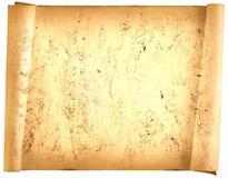 Παλαιά κάρτα εγγράφου, χρυσό έγγραφο για το γράψιμο, ή υπόβαθρο, απεικόνιση, κύλινδρος στοκ εικόνες
