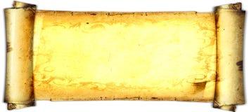 Παλαιά κάρτα εγγράφου, χρυσό έγγραφο για το γράψιμο, ή υπόβαθρο, απεικόνιση, κύλινδρος στοκ φωτογραφία