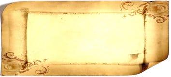 Παλαιά κάρτα εγγράφου, χρυσό έγγραφο για το γράψιμο, ή υπόβαθρο, απεικόνιση, κύλινδρος στοκ εικόνες με δικαίωμα ελεύθερης χρήσης