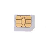 Παλαιά κάρτα sim που απομονώνεται στο άσπρο υπόβαθρο Στοκ φωτογραφία με δικαίωμα ελεύθερης χρήσης