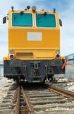 Παλαιά κίτρινη ατμομηχανή diesel Στοκ Εικόνες