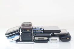 Παλαιά και νέα κινητά τηλέφωνα, smartphone Στοκ Εικόνες