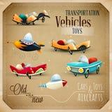 Παλαιά και νέα παιχνίδια | Αεροσκάφη, αεροπλάνα και οχήματα απεικόνιση αποθεμάτων