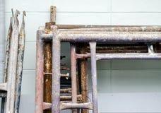 Παλαιά και grunge υλικά σκαλωσιάς χάλυβα Στοκ φωτογραφία με δικαίωμα ελεύθερης χρήσης