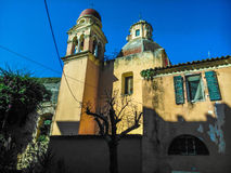 Παλαιά καμπαναριά στις εκκλησίες στην Κέρκυρα Στοκ Εικόνες